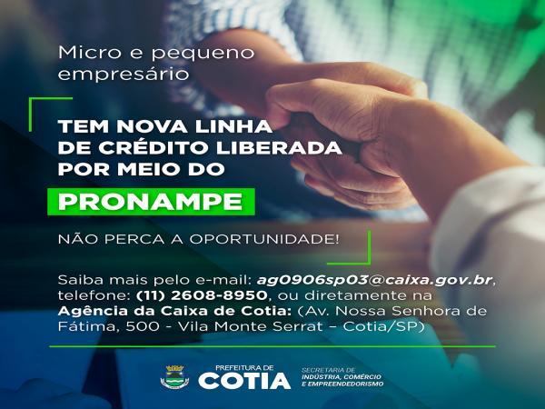 Caixa libera linha de crédito para microempresas e empresas de pequeno porte de Cotia