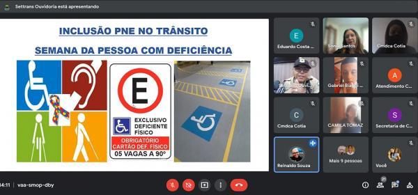 Inclusão no Trânsito é tema da segunda palestra na Semana da Pessoa com Deficiência Intelectual e Múltipla