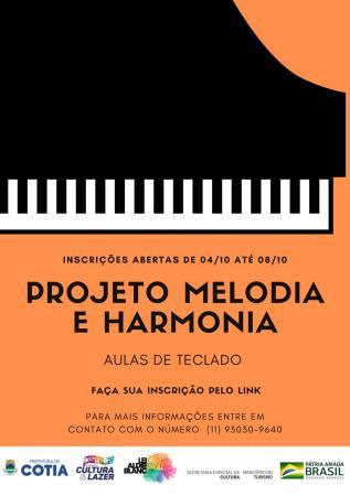 Inscrições abertas para aulas gratuitas de teclado do projeto Melodia e Harmonia