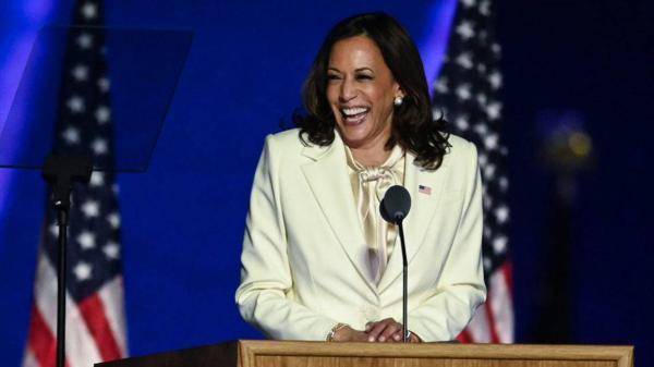 Kamala Harris faz 1º discurso como vice-presidente eleita dos Estados Unidos