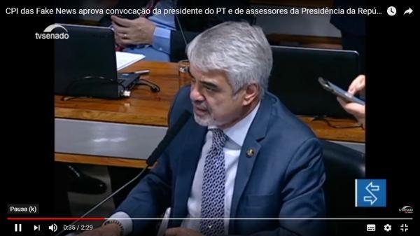 CPI das Fake News aprova convocação da presidente do PT e de assessores da Presidência da República